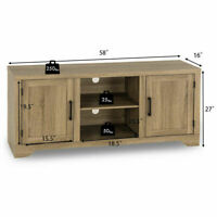 Rustic TV Stand Entertainment Center Farmhouse Console Storage Wood Cabinet