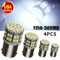 4x Cool White 1156 BA15S 50-SMD Car RV Tail Backup LED Light Bulb 1141 1073 1003