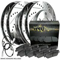 [FULL KIT] PLATINUM HART DRILLED SLOT  BRAKE ROTORS AND CERAMIC PAD PHCC.3403302