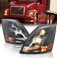 Volvo  04-16 VN/VNL Truck Headlight Headlights Pair Left Right Side w/ All Bulbs
