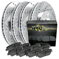 [FULL KIT] PLATINUM HART DRILLED SLOT  BRAKE ROTORS AND CERAMIC PAD PHCC.6111402