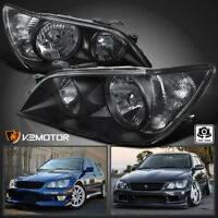 For 2001-2005 Lexus IS300 Black Replacement Headlights Head Lamps Left+Right