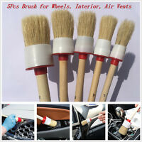 5Pcs x 2# 4# 6# 8# 12# Cleaning Brush For Air Vents Dashboard Trim Wheels Tools