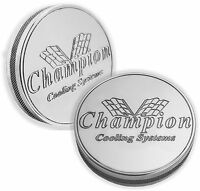 Champion Cooling Systems Polished Billet Aluminum Radiator Cap - Engraved