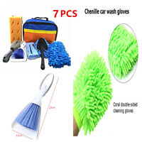 7PCS Car Auto Truck Cleaning Kit Washing Tool Interior Exterior Cleaning Sponge