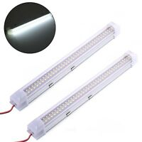 2PCS 12V Car Interior 72 White LED Strip Lights Bar Lamp for Van Caravan US Ship