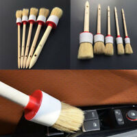 Substantial Cleaning Brush Detailing Tools Bristle Hair Wooden Handle Car Care
