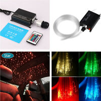 Car LED Ceiling Light Fiber Optic Star Kit RGBW Light Source+300pcs Fiber Cables