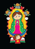 Virgen de Guadalupe Cartoon Decal Car Window Laptop Vinyl Sticker Virgin Mary