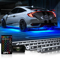 OPT7 Aura All-Color LED Underglow Car Lighting Kit with SoundSync Music - 4pc