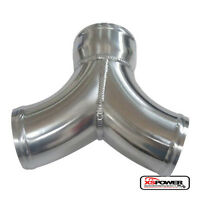 Y Pipe Air Intake Supercharger or Twin Turbo Intercooler Pipe Dual 3