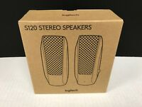 Logitech S-120 Desktop Computer Stereo Speakers ☆ 980-000012 ☆ NEW W/ WTY