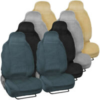 Thickest Car Seat Covers for Front High-Back Bucket Seats w/ Built-in Headrests