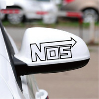 NOS Nitrous Oxide Systems Mirror Car Sticker | Cool Racing Accelerate JDM Decal