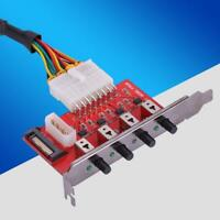 4-Way Hard Drive Selector Switcher SATA HDD Power Switch Control For Desktop PC