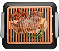 Gotham Steel Smokeless Electric Indoor Grill -Nonstick & Portable -As Seen on TV