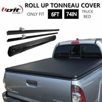 Fit 2016-2018 Toyota Tacoma 6FT Bed Lock Soft Roll Up Tonneau Cover