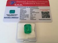 6.52 cts. NO RESERVE Transparent Colombian Emerald Estate Collection Lot MK 226