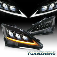LED DRL Headlights For Lexus ISF IS250 IS350 2006-2012 Lamps w/ Sequential Turns