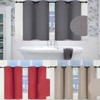 1 SET 100% BLACKOUT INSULATE THERMAL SHORT PANELS WINDOW CURTAIN IN 36