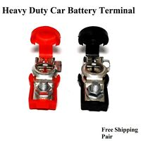 2 PCS Car Battery Terminal Connector Quick Release Cable Clamp Marine Heavy Duty