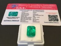 7.37 cts. NO RESERVE Transparent Colombian Emerald Estate Collection Lot 301