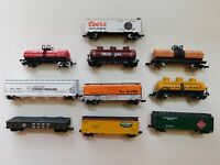 Used N Scale Freight Cars, Set of 10 cars, Multiple Road Names, Selling as Set