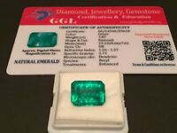 7.87 cts. NO RESERVE Transparent Colombian Emerald Estate Collection Lot MK 750