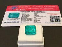 8.50 cts. NO RESERVE Transparent Colombian Emerald Estate Collection Lot MK 425