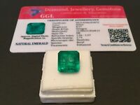 8.17 cts. NO RESERVE Transparent Colombian Emerald Estate Collection Lot DM 20