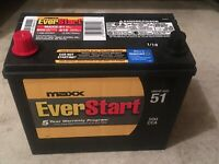 EverStart Maxx 51 car battery. 500 CCA-615 CA.