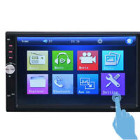 7 inch 2DIN Car MP5 Player Bluetooth Touch Screen Stereo Radio HD Rear Camera