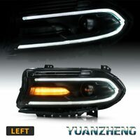 For 2015-2019 Dodge Charger LED Dual Beam Projector Headlights Left/ Driver Side