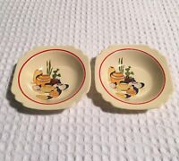 vintage Homer Laughlin Century MEXICANA C228 Vellum Small Berry Bowls - set of 2