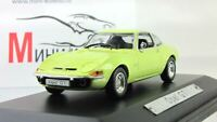 Scale model car 1:43 Opel GT, 1968 (yellow)