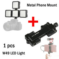 Adjustable W49 Camera LED Lights Lamp Panel+Metal Mount For Iphone Android DSLR