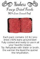 Freeze Dried Food - 90% lean ground beef - camping - survival