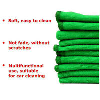 10x Microfiber Washcloth Green Auto Car Care Cleaning Towels Soft Cloths Tool