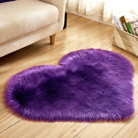 Room Bedroom Carpet Floor Mat Heart Fluffy Rugs Anti Skid Shaggy Area Rug Dining