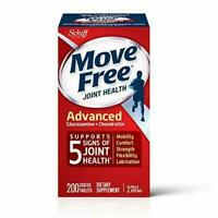 New! Exp 08/20 Free Shipping Move Free Joint Health Advanced 200 Tablets Count