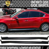 Fit 14-19 Infiniti Q50 Side Skirts Add-On Pair - ABS