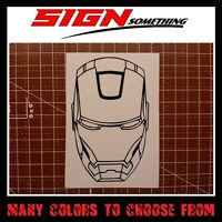 Iron Man Mask (many colors and sizes to choose from) sticker decal vinyl logo