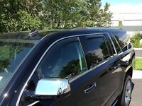 In-Channel Wind Deflectors designed to fit a 2015-2016 Chevrolet Tahoe (4 Piece)
