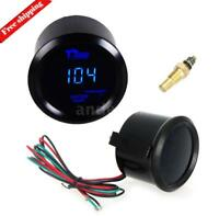 2inch 52mm Car Auto Digital Blue LED Water Temp Temperature Gauge Kit Black US