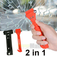 Car Safety Escape Glass Window Breaker Emergency Hammer Seat Belt Cutter Tool US