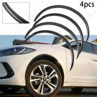 4PCS Carbon Fiber Car Wheel Eyebrow Arch Trim Lips Strip Fender Flare Protector