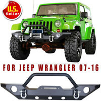Jeep Wrangler JK Rock Crawler Front Bumper With Fog Hole & D-Ring For 07-18