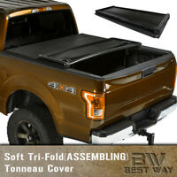 2007-2018 Toyota Tundra 6.5Ft/78IN Bed Assemble Tri-fold Tonneau Cover Vinyl
