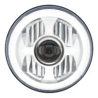 """31496 7"""" High Power LED Projection Headlight with Dual Function LED Halo Ring"""
