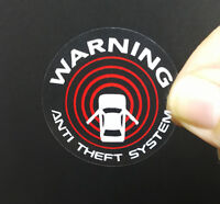 4 Car Alarm DECALS, Inside/Outside Glass, Security System Window STICKERS